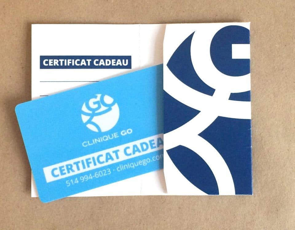 Clinique GO™ offre des certificats cadeaux