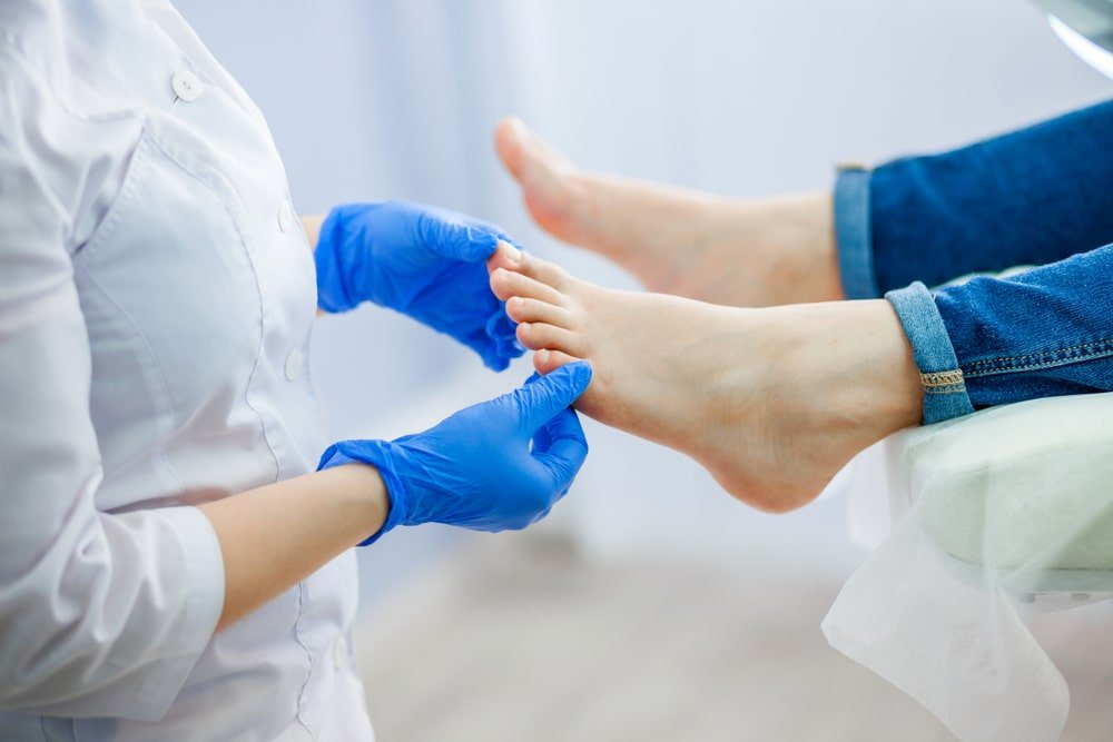 In-home foot care by a nurse